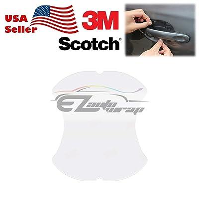 EZAUTOWRAP 1PC 3M Scotchguard Clear Door Cup Handle Paint Scratch Protection Guard Film Bra Vinyl Style 2: Automotive