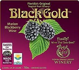 Black Gold - SEMI-SWEET Blackberry Wine