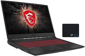 "MSI GL75 Leopard Gaming Laptop, 17.3"" Full HD 144Hz Screen, Intel Core i7-10750H Hexa-Core Processor up to 5.0GHz, GeForce GTX 1660Ti, 32GB RAM, 1TB SSD + 2TB HDD, Win10 Home, Black, KKE Mousepad"