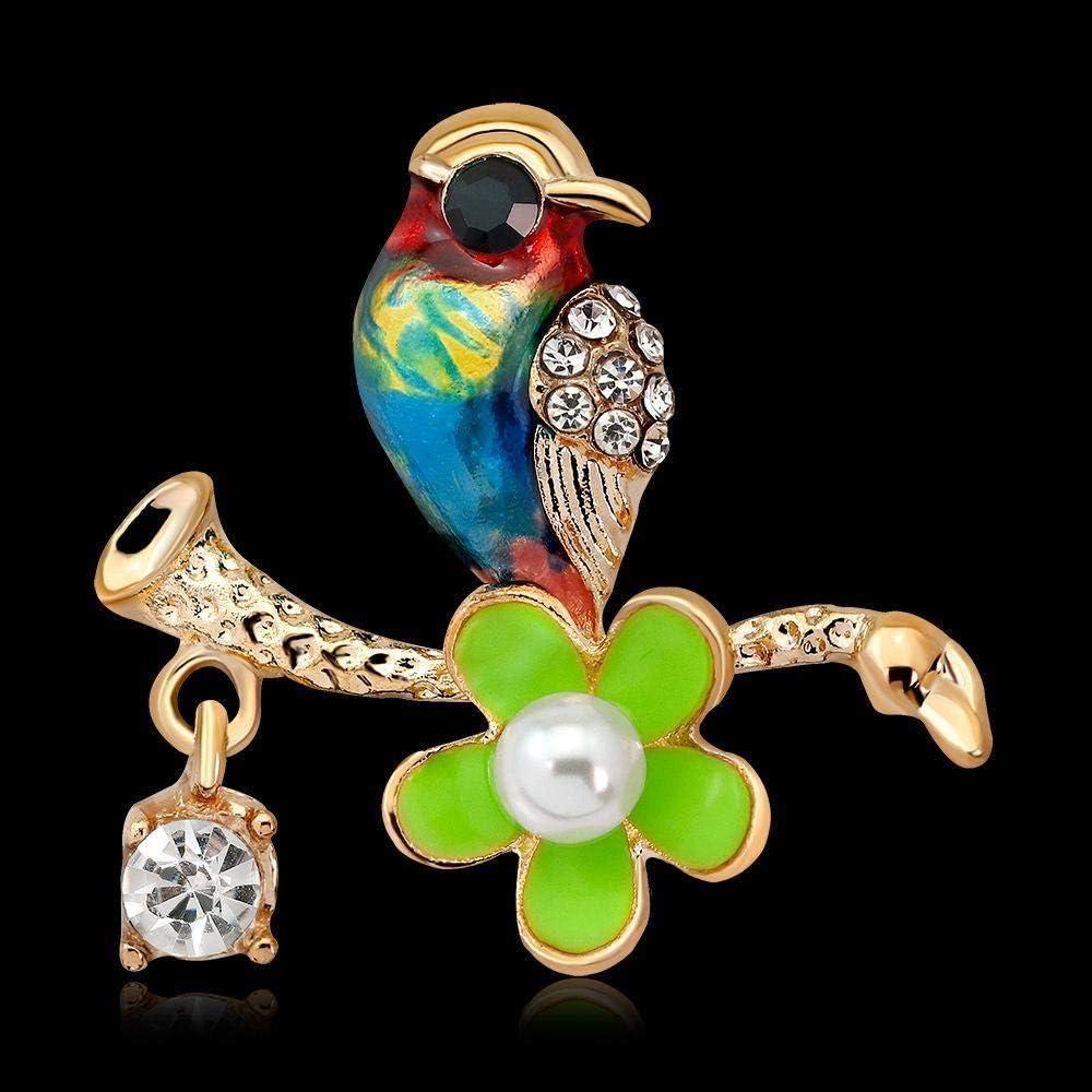 Creative Brooch Pin Brooch Wild Diamond Colored Drops Oil Bird Brooch Animal Corsage WomenS Evening Dress Accessories Badge Pin Lapel Pin