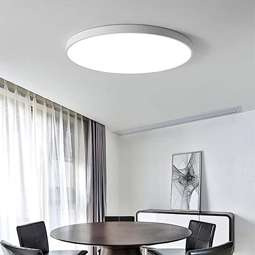 Qyyru Luz de Techo for baño, luz de Techo LED 18W Interior led ...