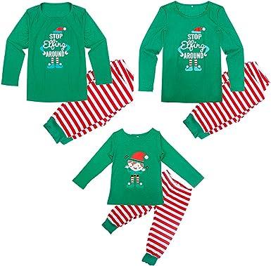 Conjunto de Pijamas Familia Navidad Niño Mujer Hombre Ropa de ...