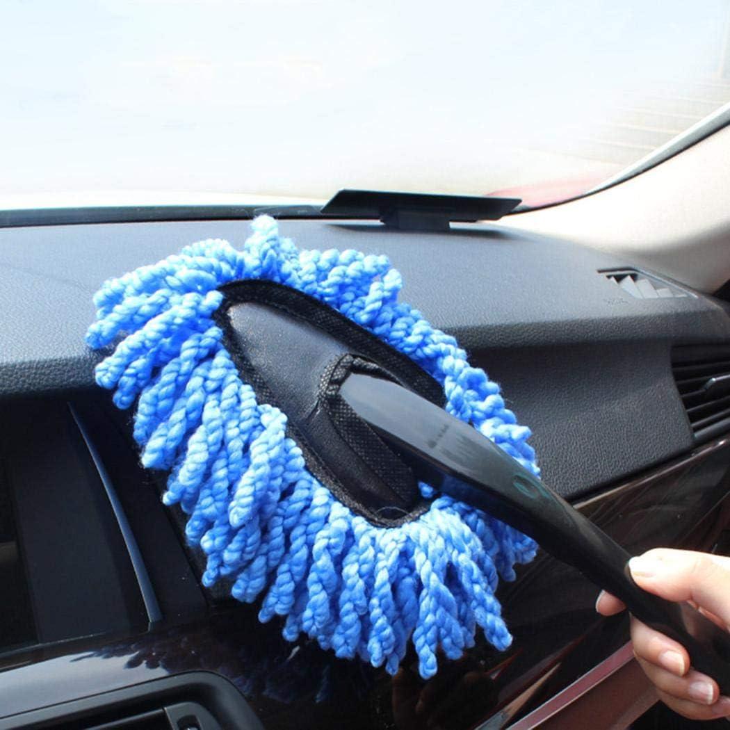 ROCONAT Spazzola di Lavaggio Auto Tenuta in Mano Morbida Portatile Durevole della Spazzola di Pulizia Automobile Manovelle e alzacristalli per finestrini