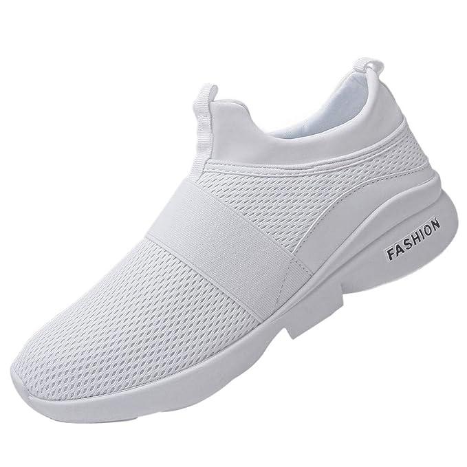 JiaMeng Zapatillas Deporte Hombre Zapatos para Correr Athletic Cordones Air de Moda Beathable Zapatos de Malla Zapatos Casuales sin Cordones: Amazon.es: ...