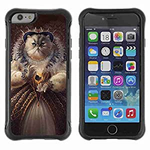 """A-type Arte & diseño Anti-Slip Shockproof TPU Fundas Cover Cubre Case para 4.7"""" iPhone 6 ( Funny Queen Cat Painting )"""