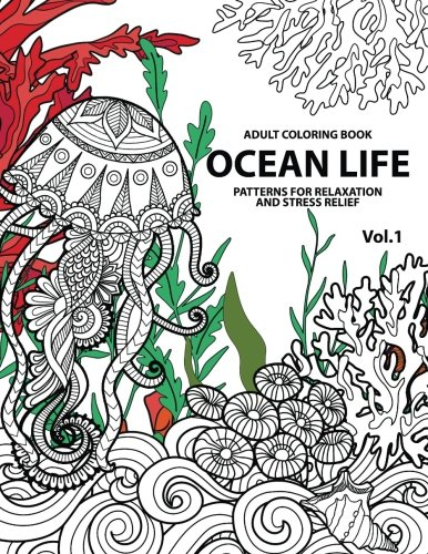 Ocean Life Coloring Books For Adults A Blue Dream Adult Book Designs