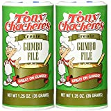 Tony Chachere's Creole Gumbo File' - 1.25 Ounce Canister (Pack of 2)