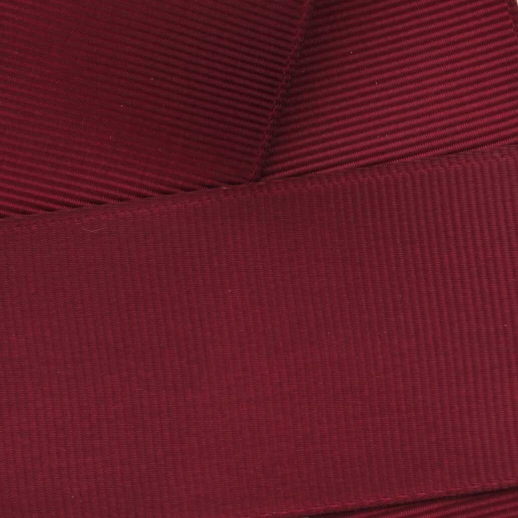 3'' Maroon Grosgrain Ribbon Solid 100 yard reel (75mm) HBC Brand