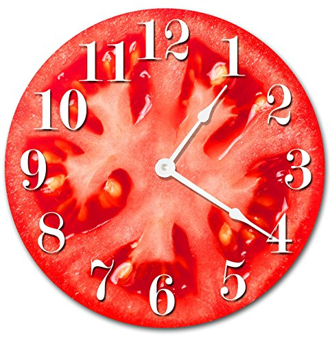 TOMATO VEGETABLE KITCHEN CLOCK Decorative Round Wall Clock Home Decor Wall Clock Large 10.5
