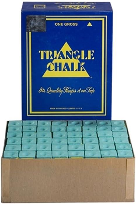 Triangle - Tizas para palos de billar (144 unidades), color verde: Amazon.es: Deportes y aire libre