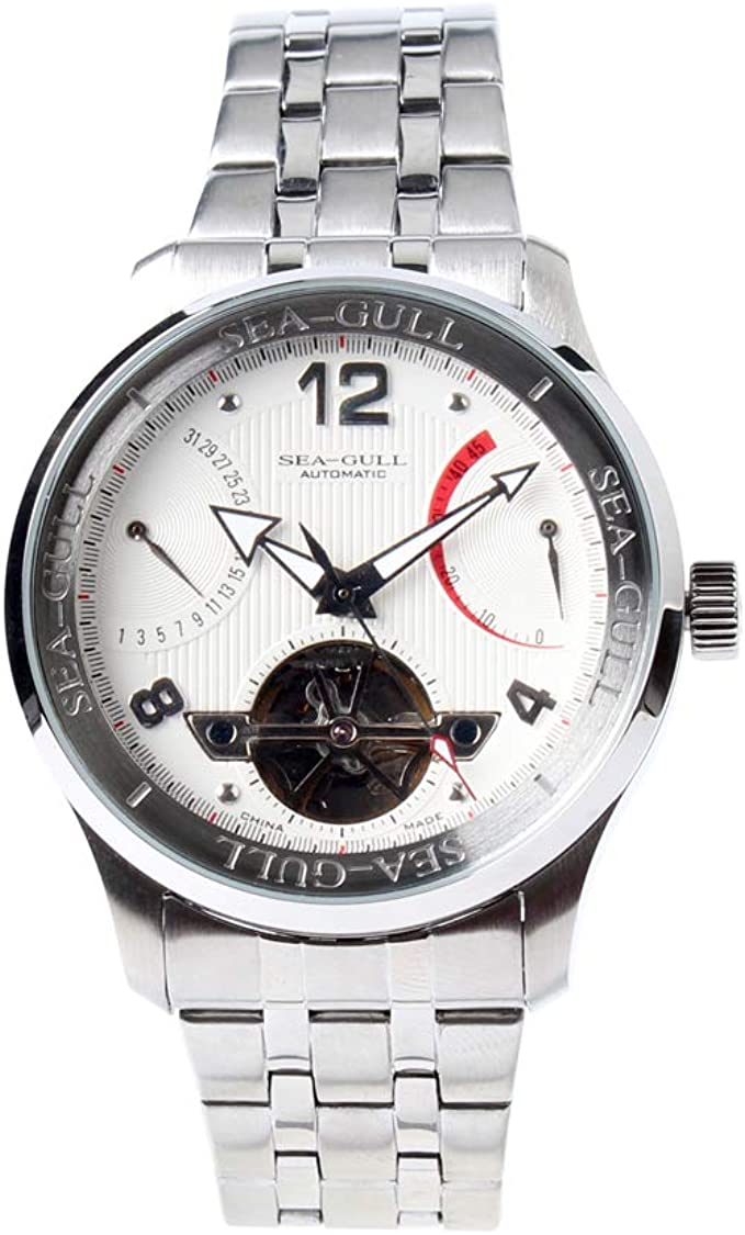 Amazon.com: Genuine Seagull Retro Date Power Reserve Skeleton Mechanical  Men Watch self Wind Automatic Dress Watch D816.350: Watches