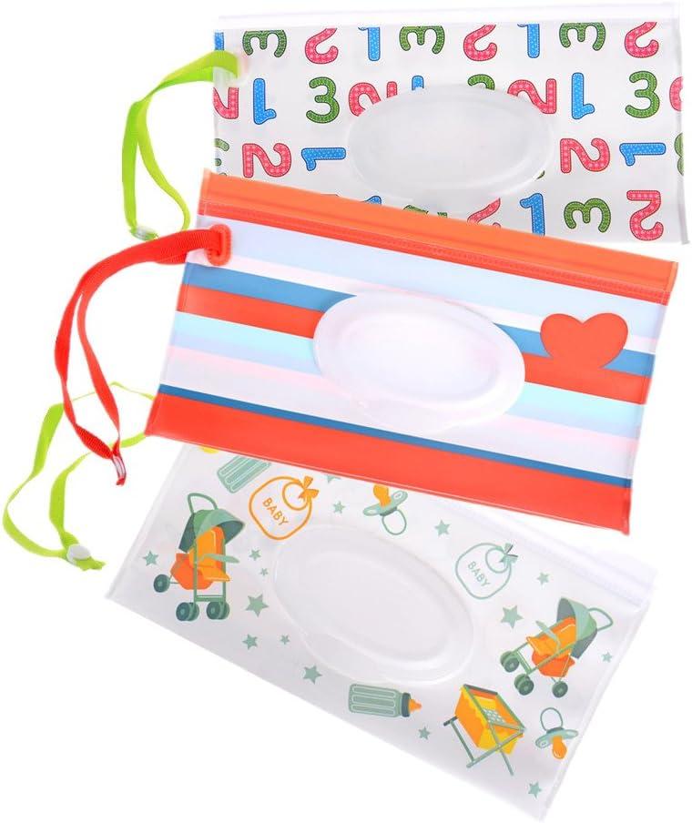 Funda de viaje para toallitas húmedas reutilizable para bebé, bolsa de viaje para toallitas húmedas con dispensador de toallitas de viaje para bebé, juego de 3 piezas: Amazon.es: Bebé