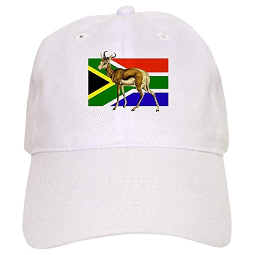 dae026ac4cc Image Unavailable. Image not available for. Color  South Africa Springbok  Flag Cap ...