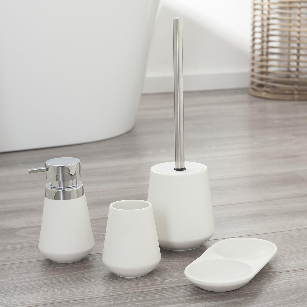 Porcellana Sealskin Conical Scopino e Portascopino da WC 39 x 12,3 x 12,3 cm Bianco