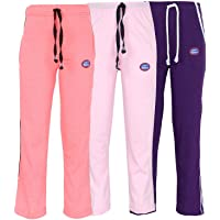 VIMAL Multicolor Cotton Blended Trackpants for Girls(Pack of 3)
