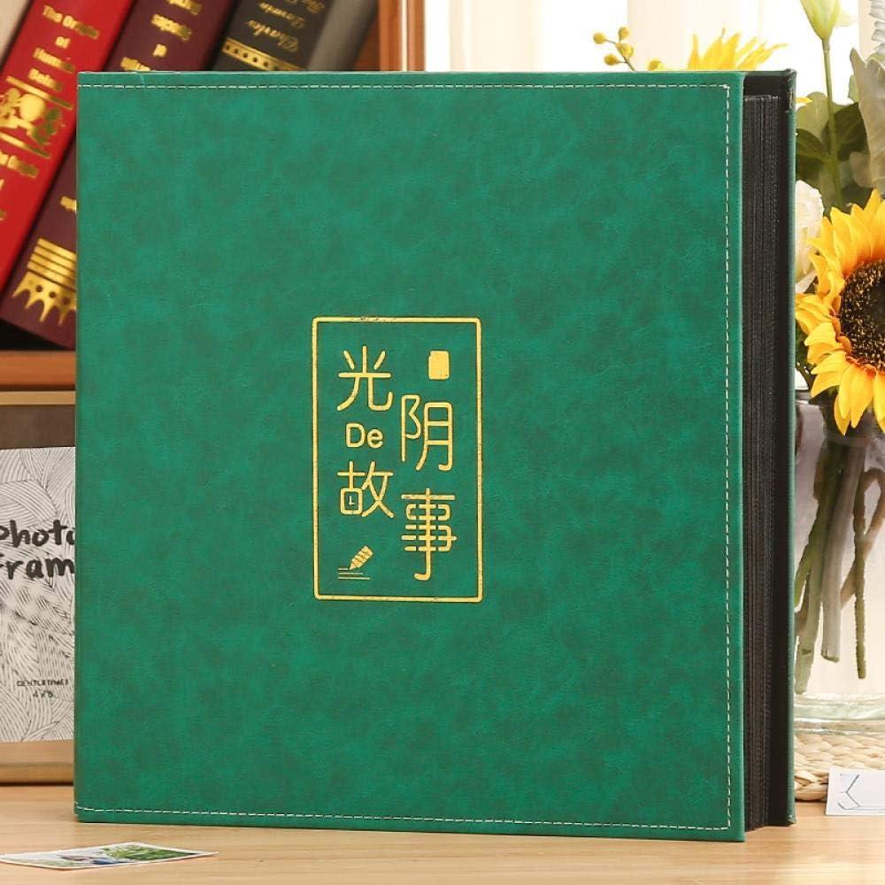 Scrapbook Dandelion Leather Photo Album Family Self Adhesive Memory Book Christmas Valentines Birthd, c