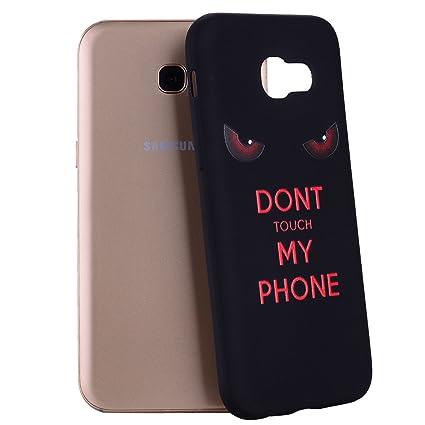Yunbaozi Funda Samsung Galaxy A5 2017 Carcasa Impresión NO Tocar MI TELÉFONO