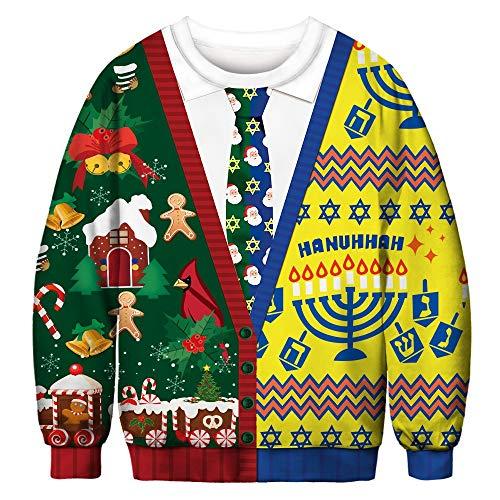 [해외]런던의 크리스마스 스웨트 셔츠 ♥ ? ♥ 여자의 긴 소매 3d 녹색 나무 인쇄 된 스웨터 스웨터 셔츠 815 상판 / Christmas Sweatshirt in Londony ♥?♥ Women`s Long Sleeve 3D Green Tree Printed Sweatshirt Pullover Shirt 815 Tops