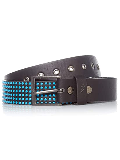 Black//Blue Lowlife Wallace Studded Belt
