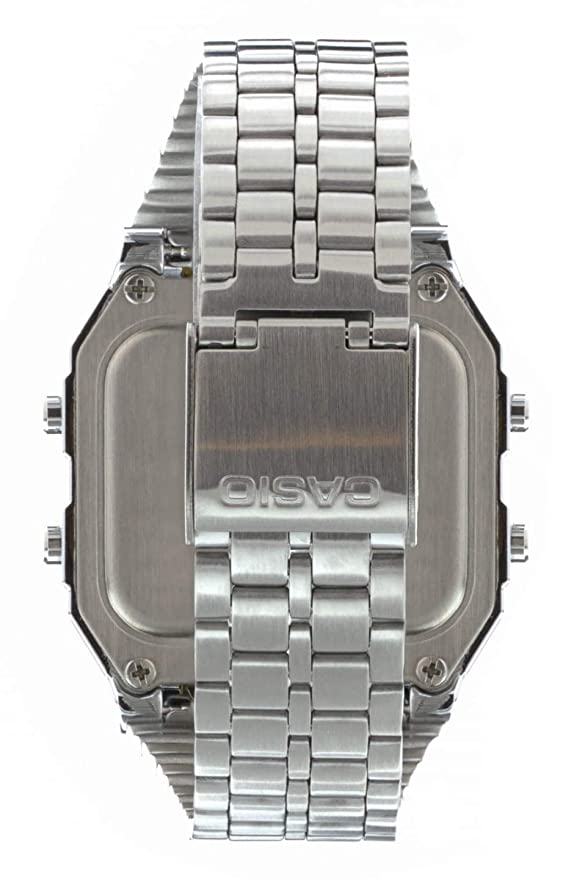 Casio Reloj Digital para Hombre de Cuarzo con Correa en Acero Inoxidable A500WEA-1EF: Amazon.es: Relojes