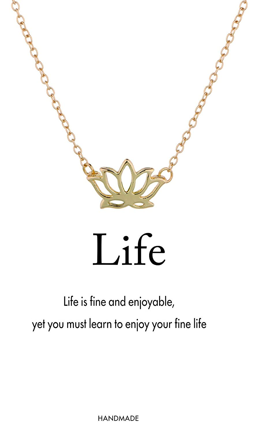 Monily Message Card Infinity Necklace Pineapple Mountain Antlers Lucky Lotus Elephant Pendant Necklace Woman Jewelry JN00475GD01