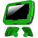 """Fintie LeapFrog Epic Case - Premium PU Leather Standing Carrying Cover with Car Headrest Mount Holder Function For LeapFrog Epic / LeapFrog Epic Academy Edition 7"""" Android-based Kids Tablet, Green"""