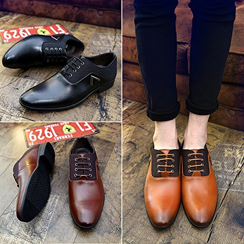 Vernis Marron Brown Cuir Chaussure Cuir Business Mariage Brogue Derby Lacets Oxford Noir Dressing Homme Jaune 6A77qUHwY