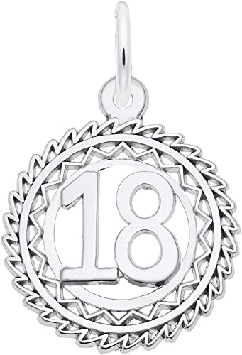 Sterling Silver Number 18 Charm