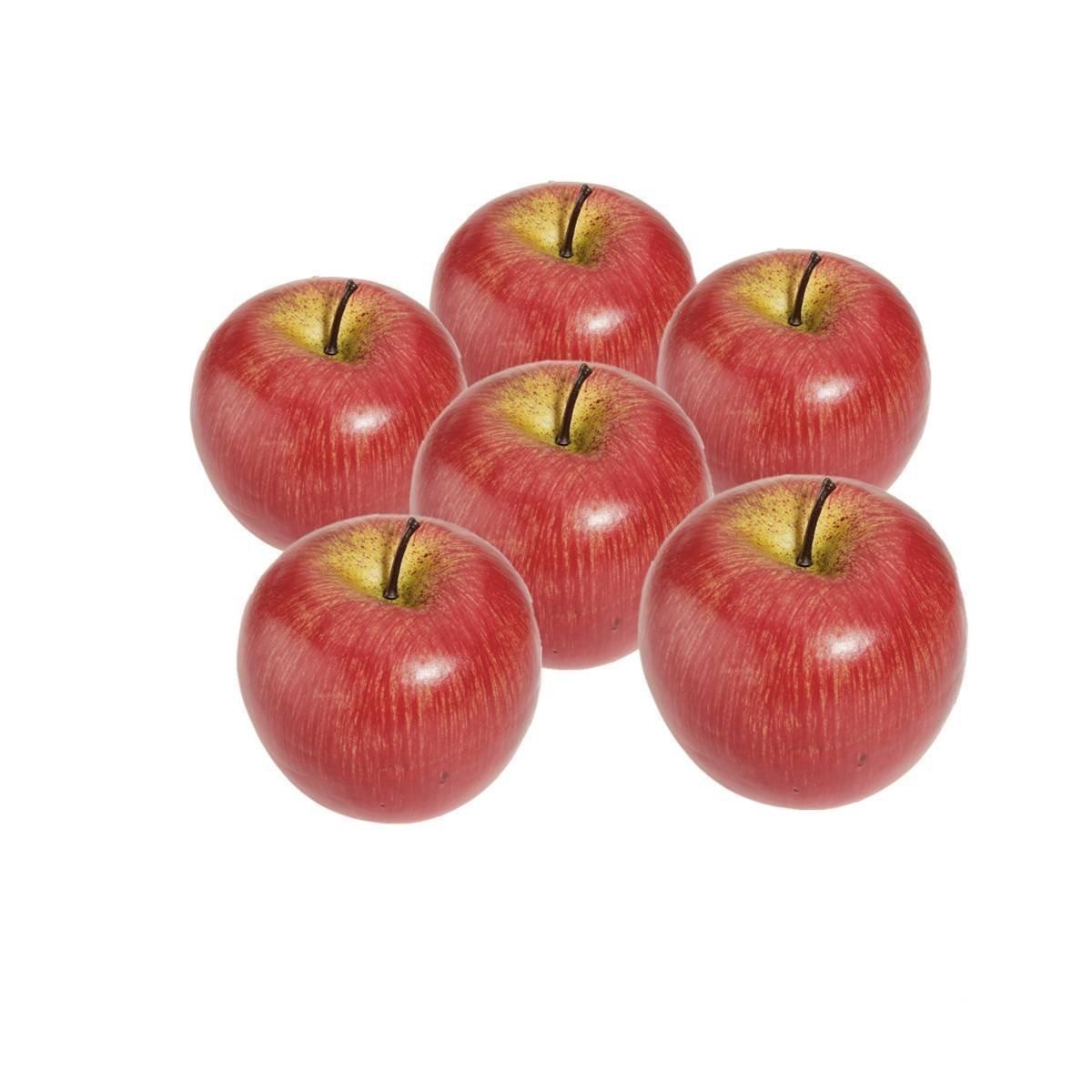TOOGOO (R) 6 Stueck Dekorativer Kuenstlicher Apfel Kunststoff Obst Imitation Hause Dekoration - rot SODIAL(R) SHOMAGT21398