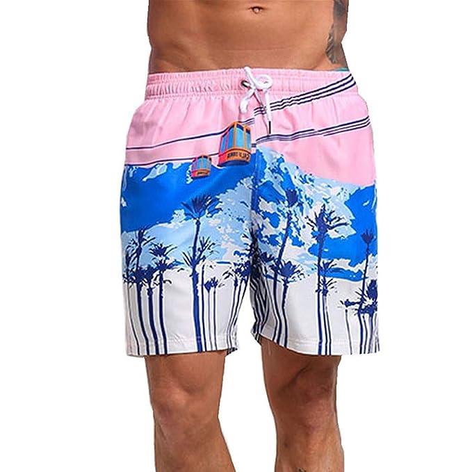 Estate Boxer Uomo Mesh Tavola da Surf Spiaggia Pantaloncini Casual Nuoto Costume