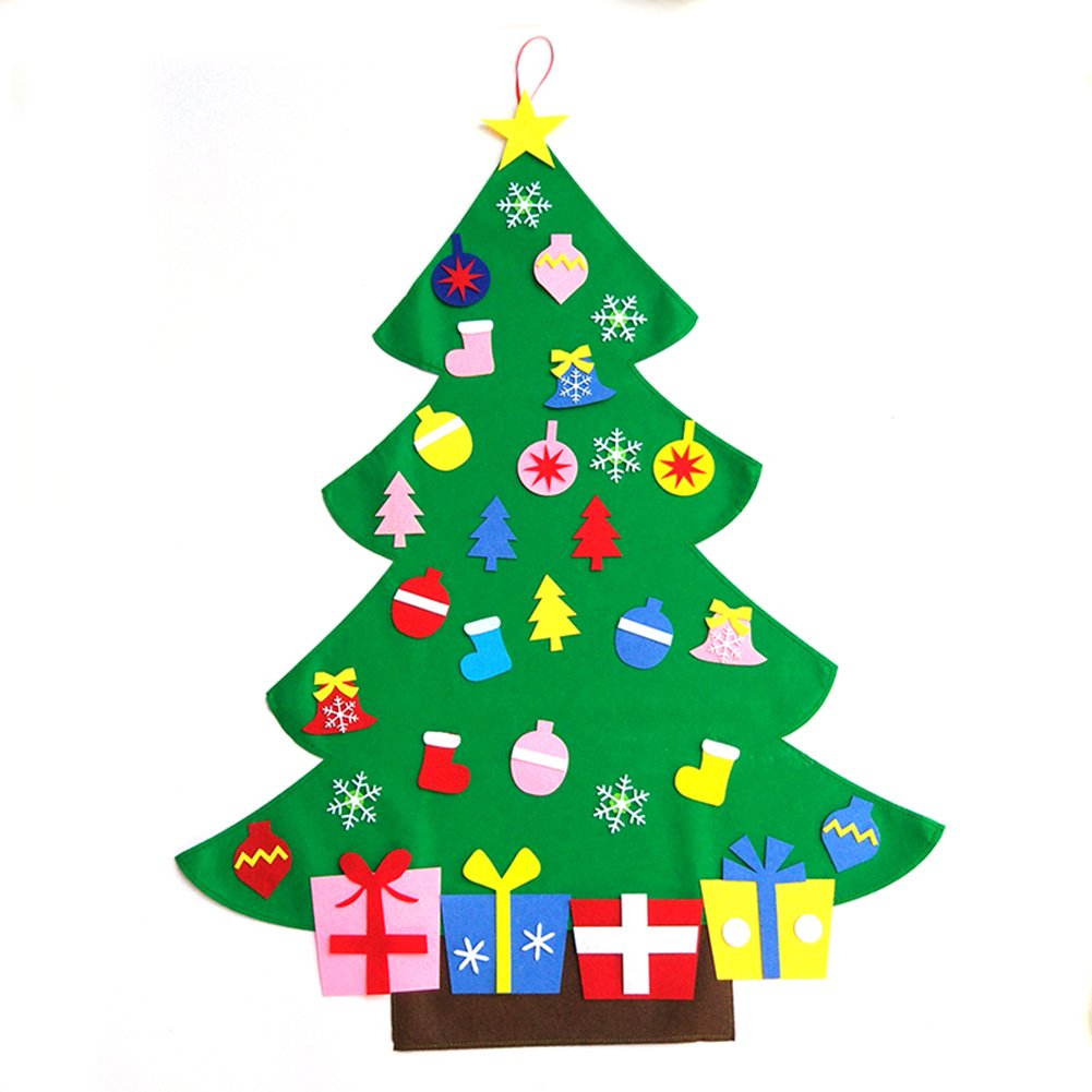 KEYNEW Fantasitc DIY Christmas Felt Tree Easter