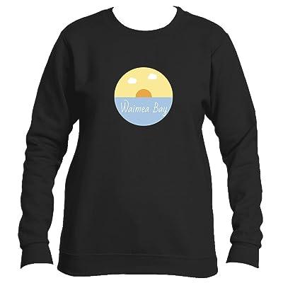 Waimea Bay Ocean Sunset - Hawaii Women's Fleece Crewneck Sweatshirt