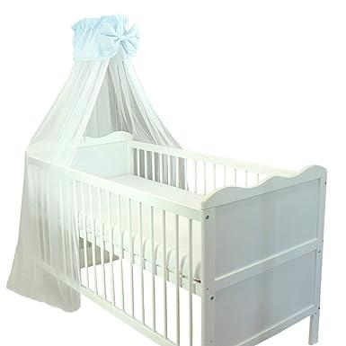 Tuptam Babybett Himmel Mit Schleife Transparent Farbe Blau Grosse