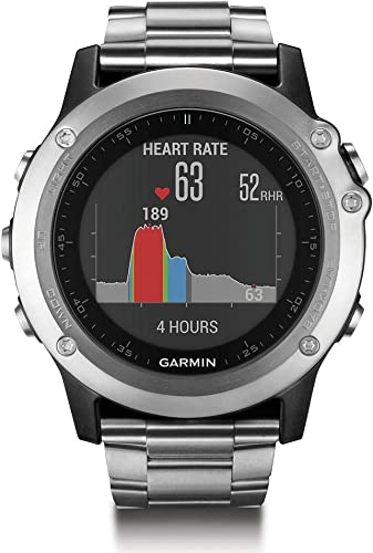 Garmin Fenix 3 HR GPS Watch with Titanium and Sport Bands