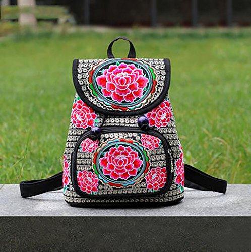 bolso de hombro de la flor bordada / paquete de ocio sencilla femenina ( Color : 17# ) 17#