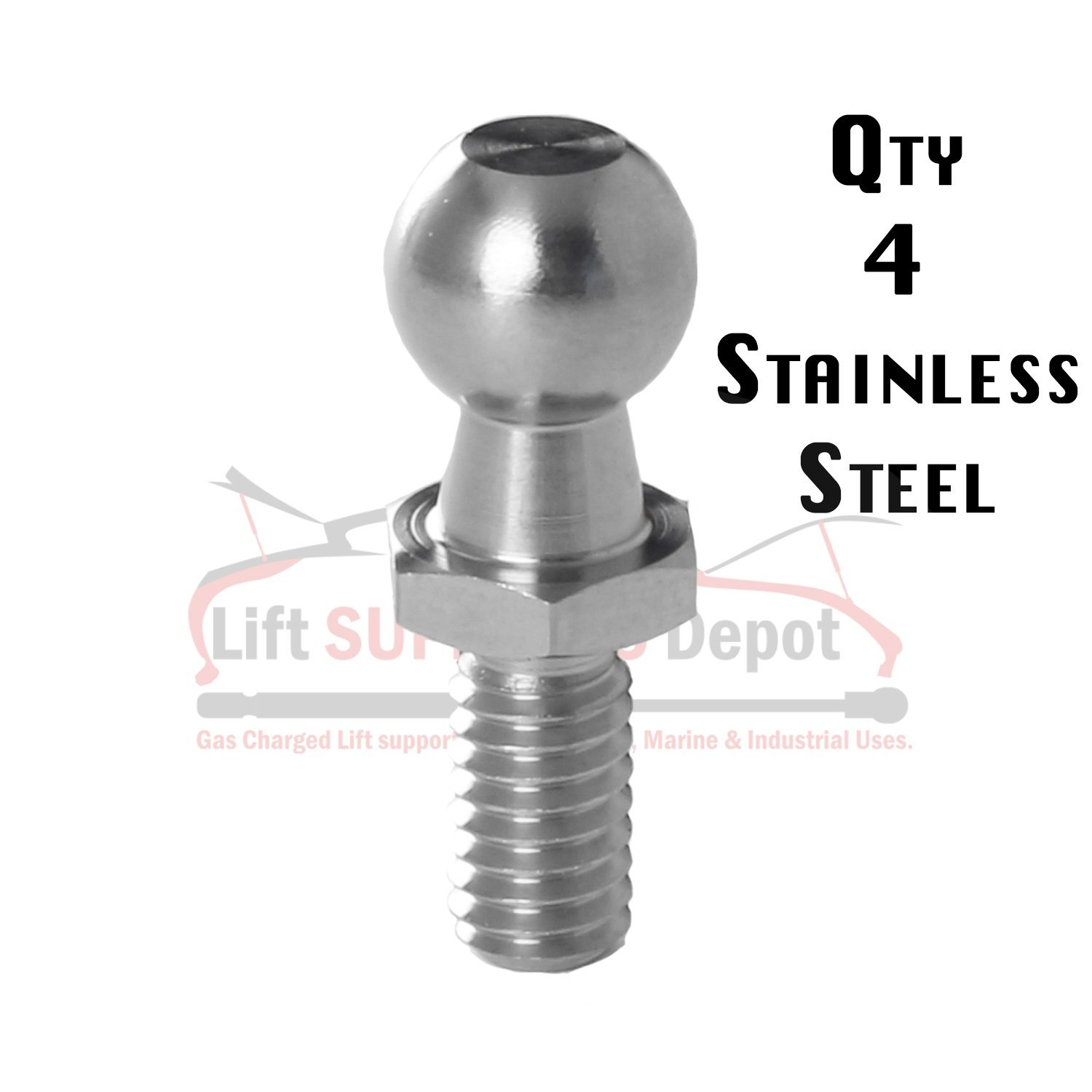 Ball Studs 13mm =(1/2'') 5/16 X 18 S316 Stainless Qty (4)