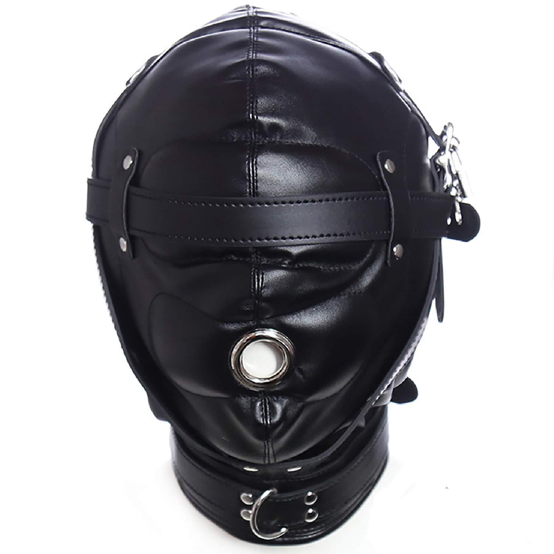 Leather Bondage Gimp Mask Head Hood - Sealed Soft Cosplay Mask Full Face  Mask Lacing Harness Unisex Bondage Adult Sex Toys BDSM Fetish Hood  Restraint ...