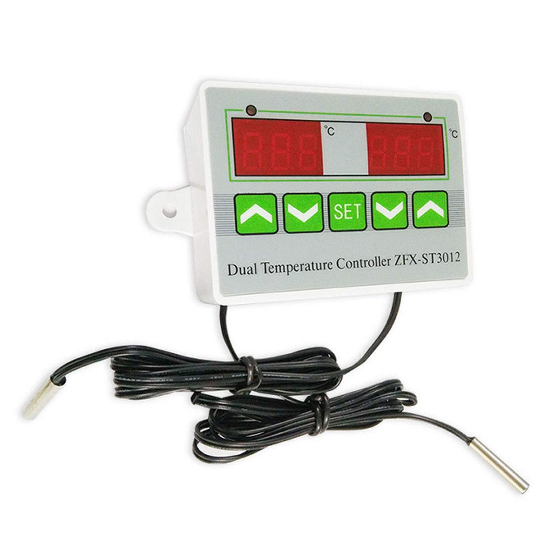 1PCS Digital LED Dual Thermometer Temperature Controller Thermostat Incubator Control Microcomputer Dual Probe AC 24V