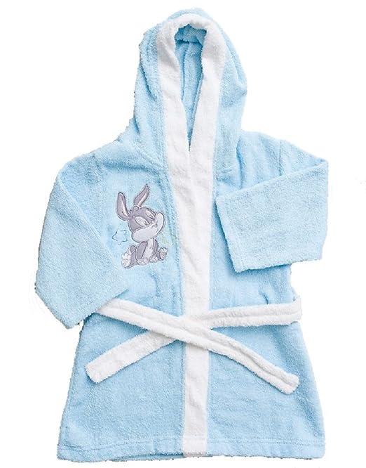 Albornoz de algodón para niño, diseño de Looney Tunes