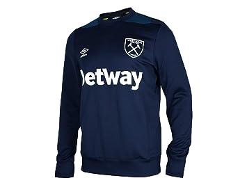 b560f5346d Umbro West Ham United Sweat-Shirt pour Supporter Bleu foncé, Adulte  (Unisexe)