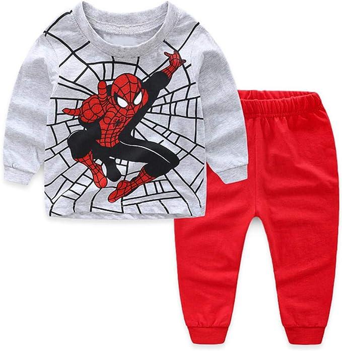 Spiderman Kids Toddler Baby Boys Pajamas Set Pjs Sleepwear Size 2T 3T 4T 5T 7-8T