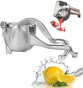 Manual Juice Squeezer, Metal Hand Juicer Citrus Squeezer for Lemon, Kiwi, Grape and other fruit, Fruit Juicer Lemon Presser