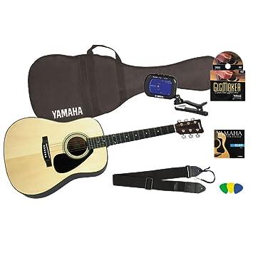 Yamaha Gigmaker Standard Acoustic Guitar W Gig Bag Tuner Instructional Dvd Strap Strings And Picks Natural