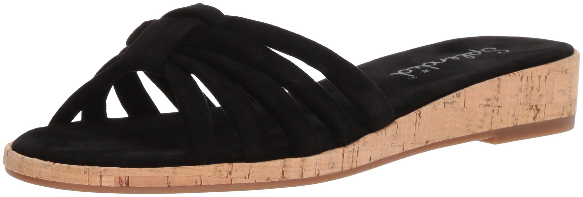 Splendid Women's Faith Flat Sandal, Black, 9.5 Medium US