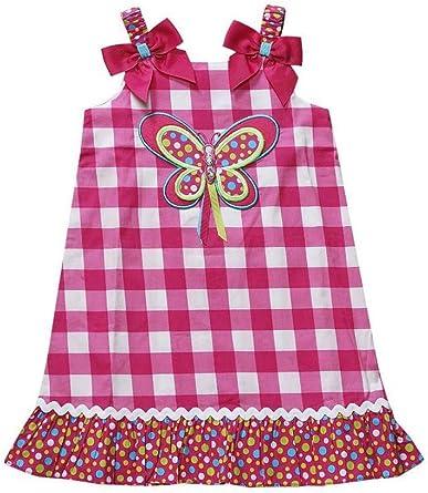 Youngland Infant Girls Orange /& Purple Flower Ruffled Sun Dress Size 12 Months