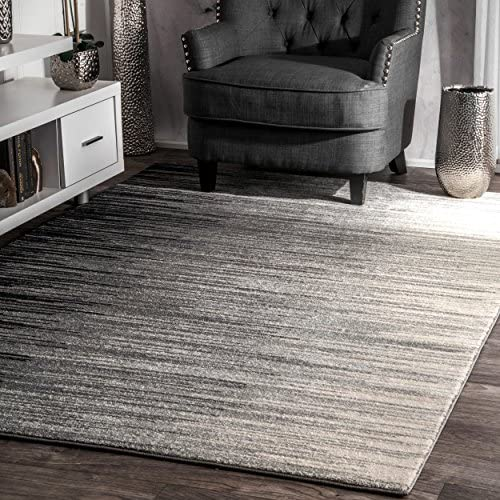 nuLOOM Lexie Ombre Area Rug, 8 x 10 , Black
