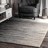 nuLOOM Lexie Ombre Area Rug, 5' x 7' 5', Black