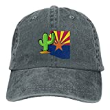 Vintage Cactus Arizona FlagVintageDenim Cap Adult Unisex Adjustable Hat