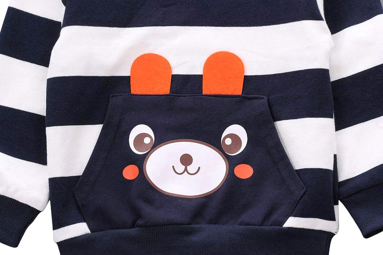 Camiseta de Color S/ólido Tops Camisa Pantal/ón Para WonderBabe Reci/én Nacido Ropa de Oto/ño e Invierno Beb/é Ni/ño 2 Pcs Set Ropa Estampado de Oso