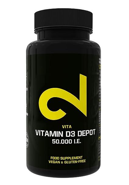 DUAL Vitamin D3 Con Depósito 50.000 I.E.| Certificado Por Laboratorio| Dosis de Vitamina D3